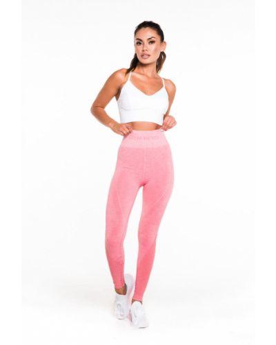 Розовые леггинсы с поясом с открытым носком Gym Hero