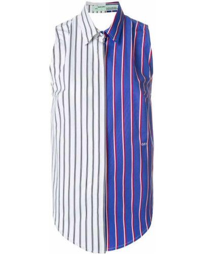 Блузка без рукавов в полоску классическая Off-white