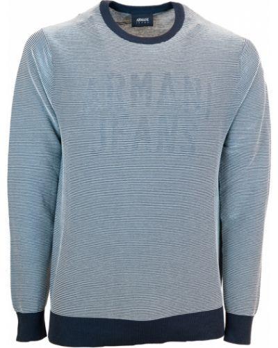 Pulower - niebieski Armani Jeans