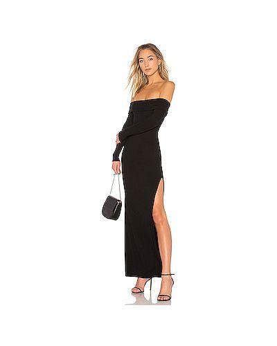 Платье макси в рубчик через плечо Privacy Please