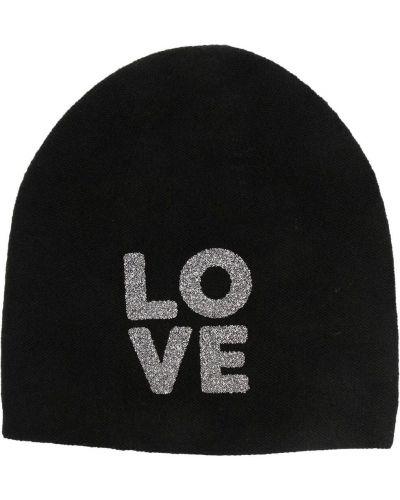 Кашемировая черная вязаная шапка бини Warm-me