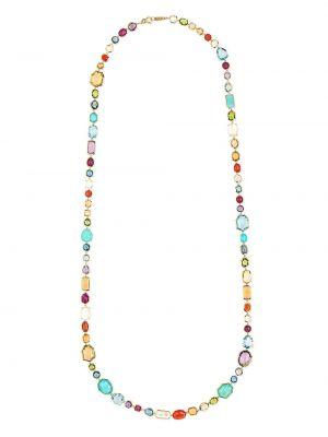 Золотистое ожерелье золотое с жемчугом Ippolita