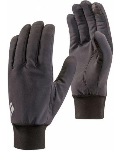 Czarne rękawiczki softshell z diamentem Black Diamond
