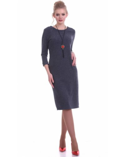 С рукавами трикотажное платье миди с открытой спиной Lautus