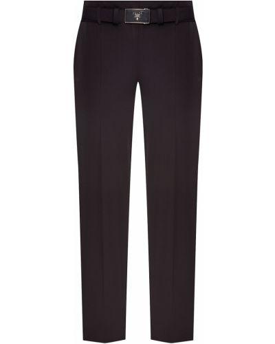 Укороченные брюки со стрелками с поясом Prada