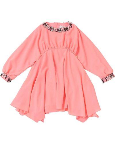 Платье с воротником - розовое Lanvin