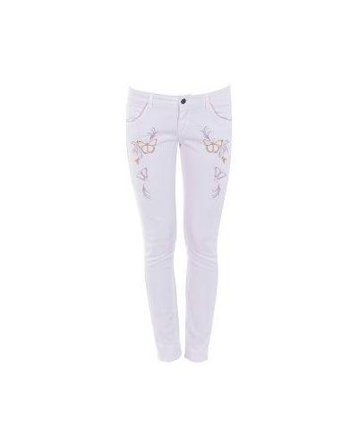 Белые джинсы-скинни Patrizia Pepe