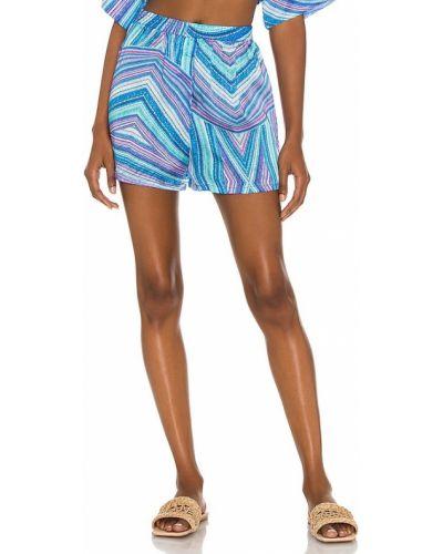 Niebieskie satynowe majtki szorty Frankies Bikinis