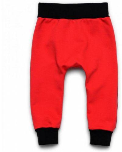 Красные спортивные брюки из футера Ardomi