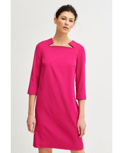 Платье мини прямое из вискозы Simple