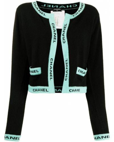 Черная кардиган длинная Chanel Pre-owned