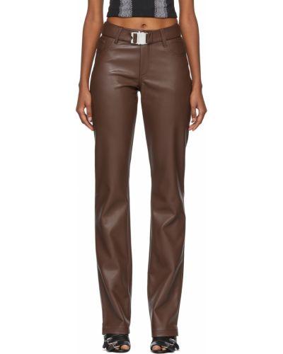Кожаные брюки - коричневые Misbhv