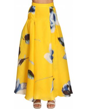 Ażurowa spódnica maxi z wysokim stanem z jedwabiu Carolina Herrera