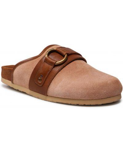 Brązowe sandały zamszowe See By Chloe