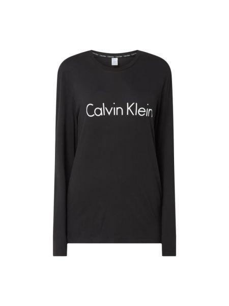 Czarna piżama bawełniana z printem Calvin Klein Underwear