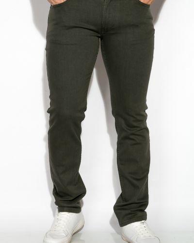 Повседневные хлопковые зеленые джинсы Tos
