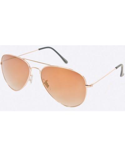 Солнцезащитные очки золотого цвета Jack & Jones