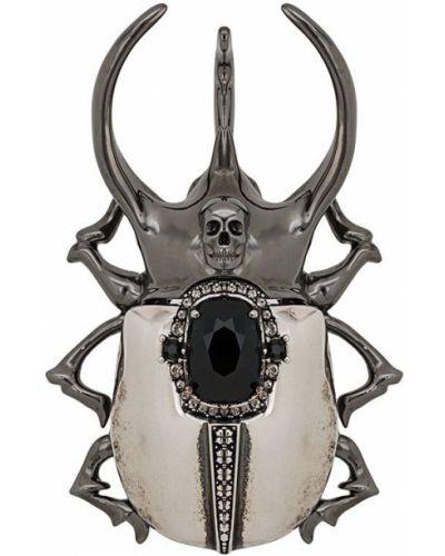 Брошь из серебра серебряный Alexander Mcqueen