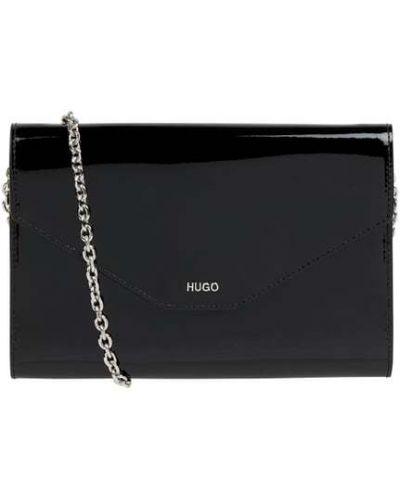 Czarna kopertówka skórzana Hugo