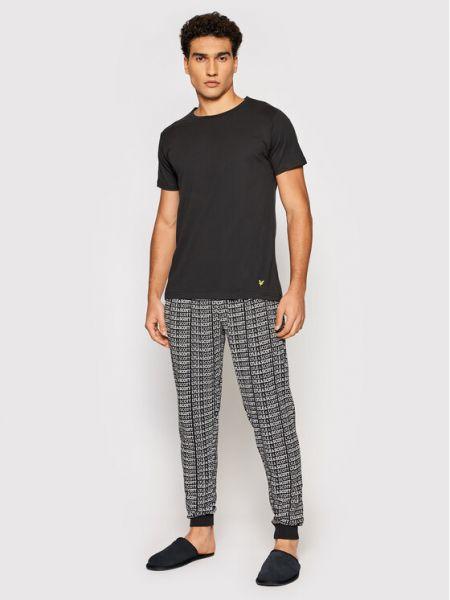 Piżama - czarna Lyle & Scott
