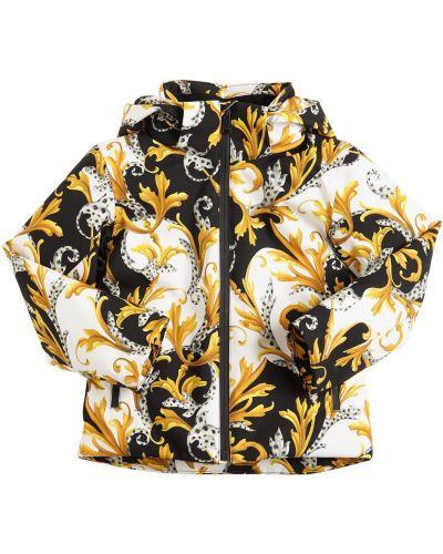 Пуховая куртка с капюшоном с воротником Versace