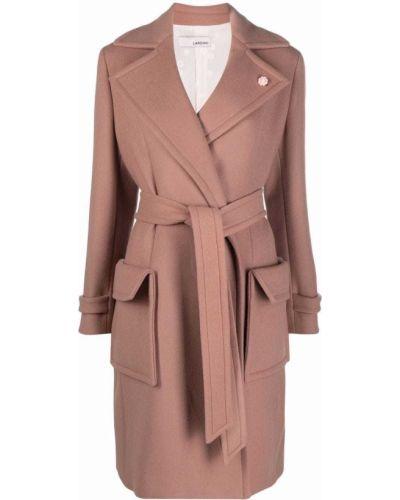 Длинное пальто - розовое Lardini