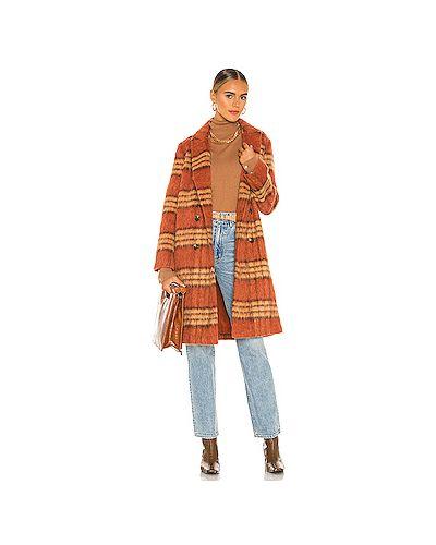 Кашемировое пальто с мехом с декоративной отделкой с карманами Cupcakes And Cashmere