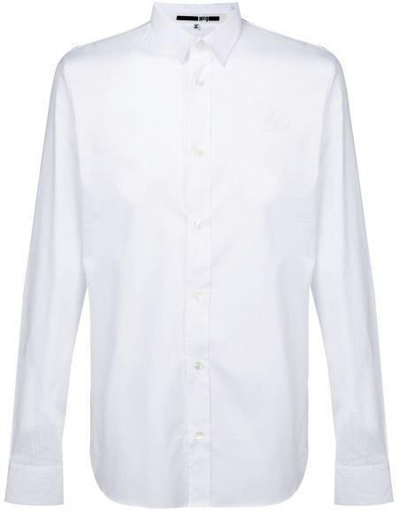 Biała klasyczna koszula bawełniana z długimi rękawami Mcq Alexander Mcqueen