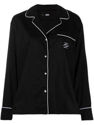 Брюки с карманами - черные Karl Lagerfeld