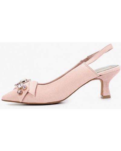 Розовые туфли с открытой пяткой Marco Tozzi