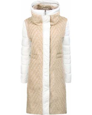Белая комбинированная куртка на молнии с воротником Lorena Antoniazzi