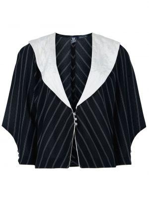 Черный пиджак винтажный Emanuel Ungaro Pre-owned