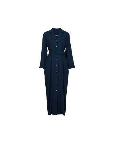 Синее платье из вискозы Vuall