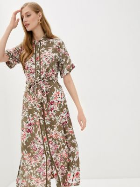 Платье платье-рубашка зеленый Code