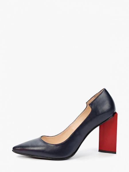 Кожаные туфли синий осенние Hestrend
