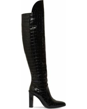 Ботинки на каблуке из крокодила Max Mara