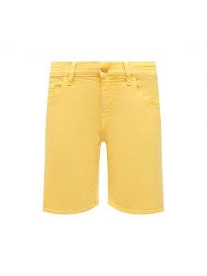 Желтые хлопковые шорты Jacob Cohen