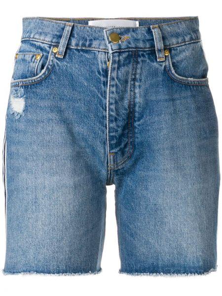 Джинсовые шорты с карманами со стразами на пуговицах Victoria Victoria Beckham