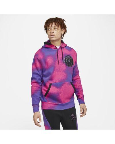 Fioletowa bluza z kapturem oversize Nike