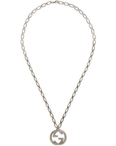 Naszyjnik srebrny Gucci