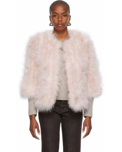 Куртка с воротником - белая Yves Salomon