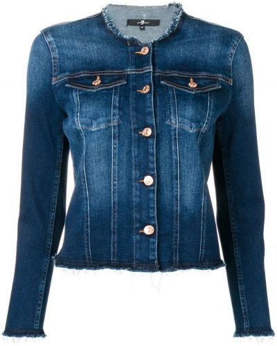 Синяя короткая куртка 7 For All Mankind