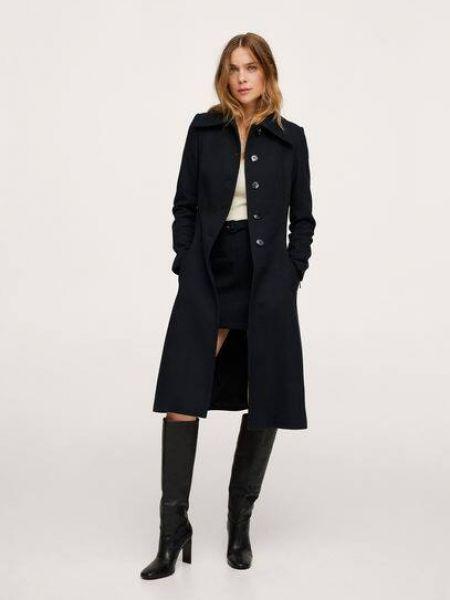 Черное пальто на подкладке Mango