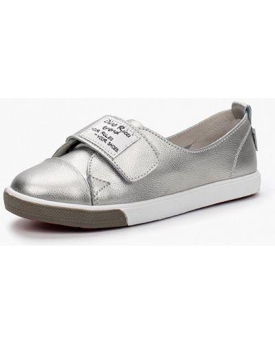 Низкие кеды серебряного цвета Dino Ricci Trend