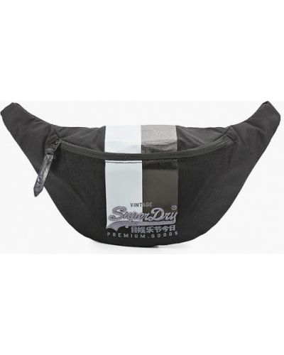 Текстильная поясная сумка - черная Superdry