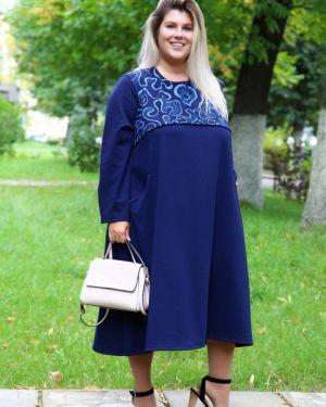 Платье синее инсантрик