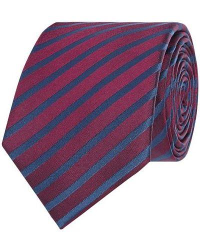 Klasyczny różowy krawat w paski Monti