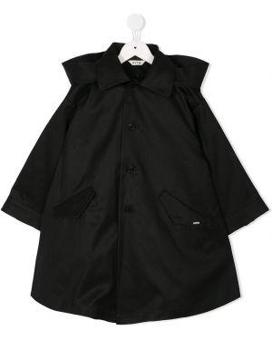 Черное водонепроницаемое пальто на пуговицах Fith