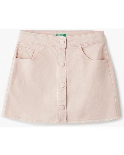 Джинсовая юбка розовый United Colors Of Benetton