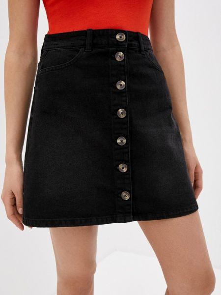 Джинсовая юбка весенняя черная Pieces